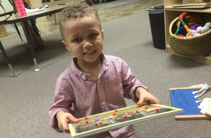 little boy working on a puzzle at a Preschool & Childcare Serving Salt Lake City, UT