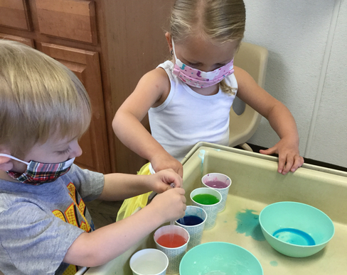 Pandas mixing colors - Your Child's Health and Safety Is Always A Priority
